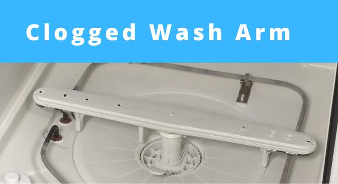 Clogged Wash Arm